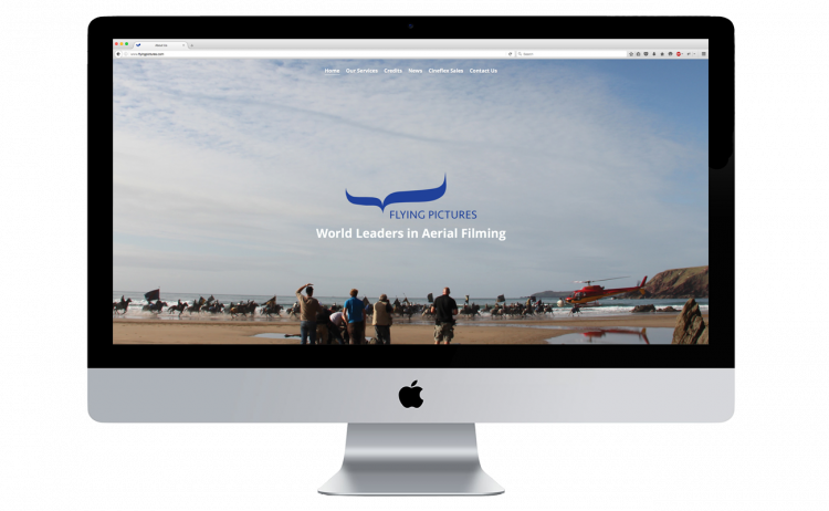 Flying Pictures desktop mockup