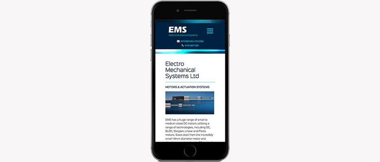 EMS responsive screenshot
