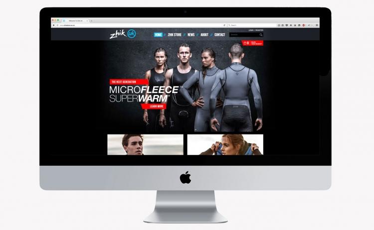 Zhik homepage mockup