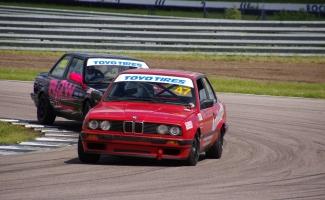 PBMW racing action