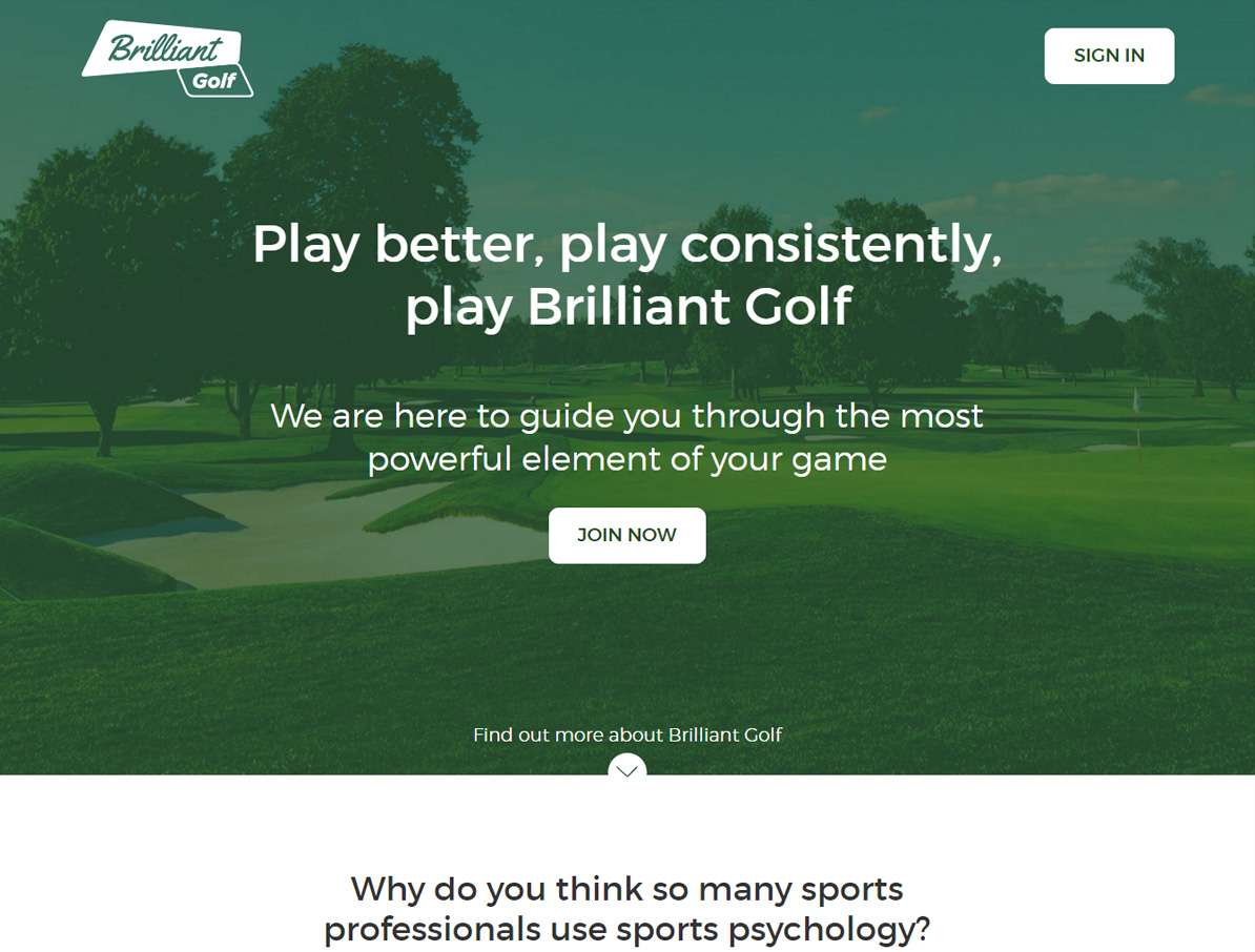 Brilliant Golf Primary Screenshot