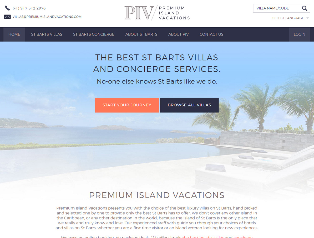 Premium Island Vacations Primary Screenshot